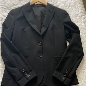 Theory Black Blazer with pinstripe arm linings